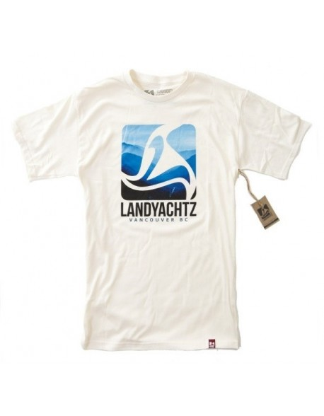 Landyachtz tričko - blue logo